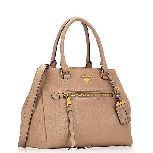 [PRADA] Leather Vitello Phenix Convertible Bag