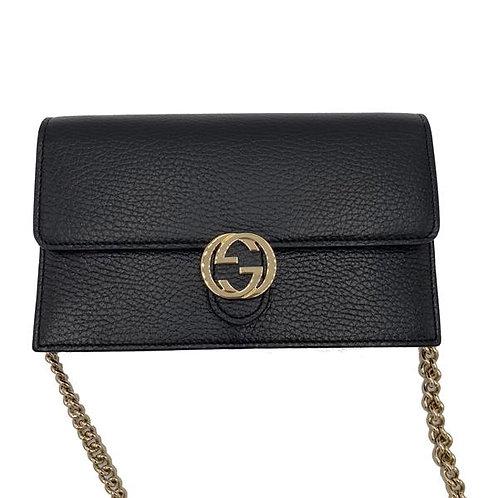[GUCCI] Leather Mini Chain Bag/Wallet