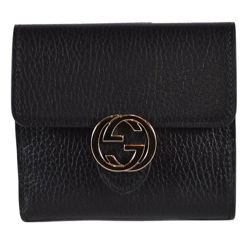 [GUCCI] Leather Marmont GG French Bifold Wallet
