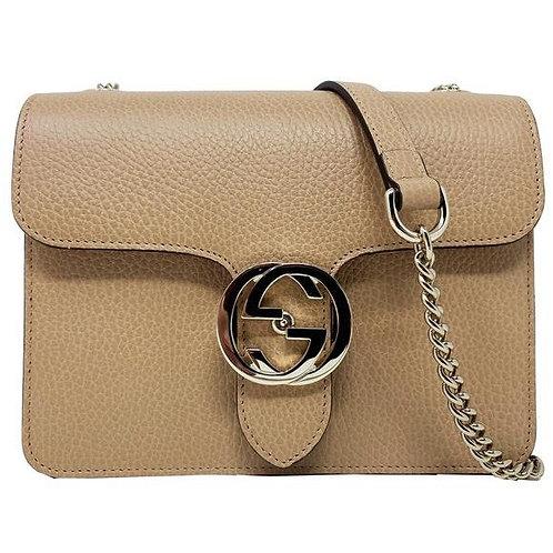 [GUCCI] Interlocking GG Leather Crossbody Bag