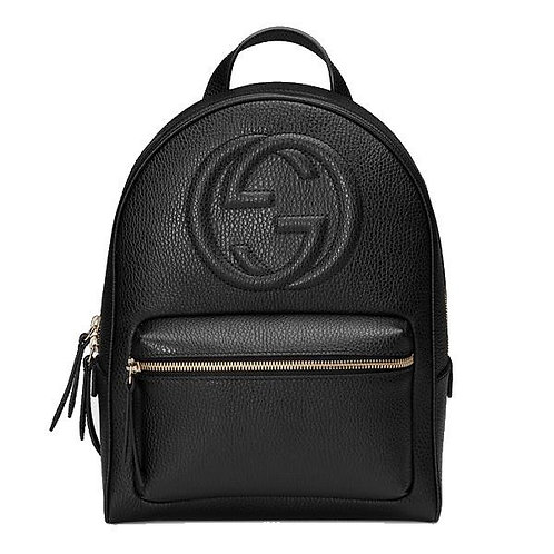 [GUCCI] Soho Gg Logo Leather Backpack
