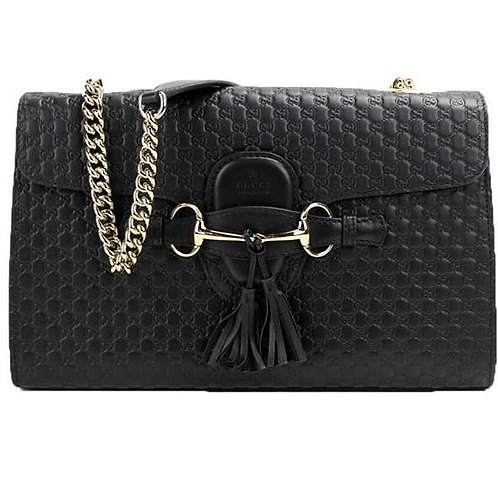 [GUCCI] Emily Leather Chain Shoulder Bag