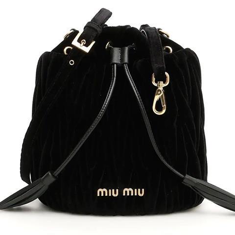 [MIU MIU] Velvet Matelasse Bucket Bag