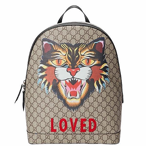 [GUCCI] GG Supreme Angry Cat Backpack