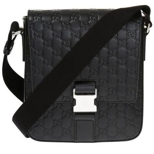 [GUCCI] Guccissima Leather Messenger Bag