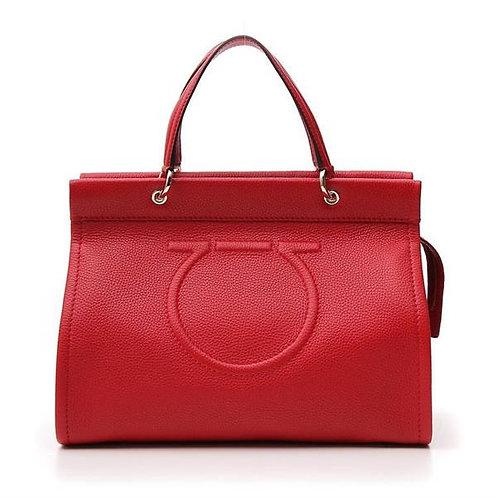 [FERRAGAMO] Embossed Gancini Top Handle Bag