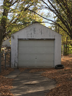 Single Car Detached Garage
