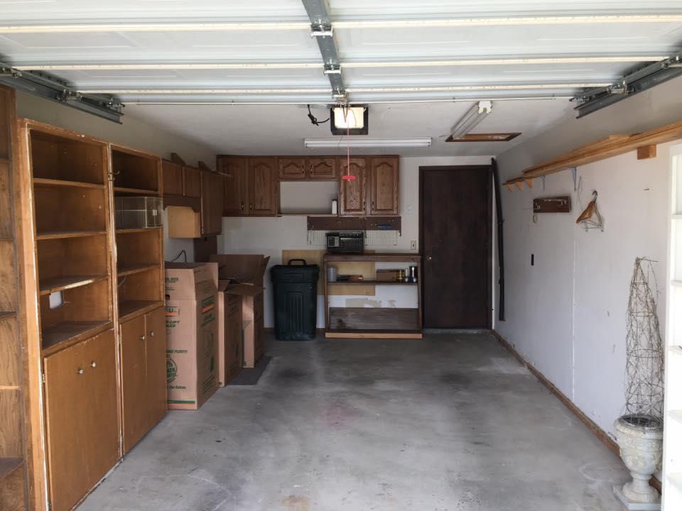 Single car attached garage