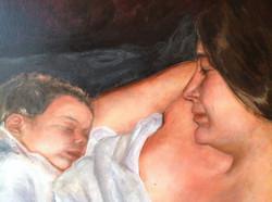 Maternité, détail