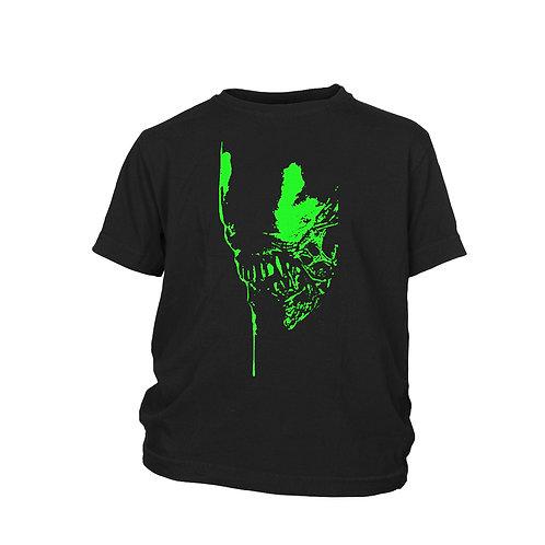 KIDS - Alien V Predator film Fluo green screen printed T-shirt