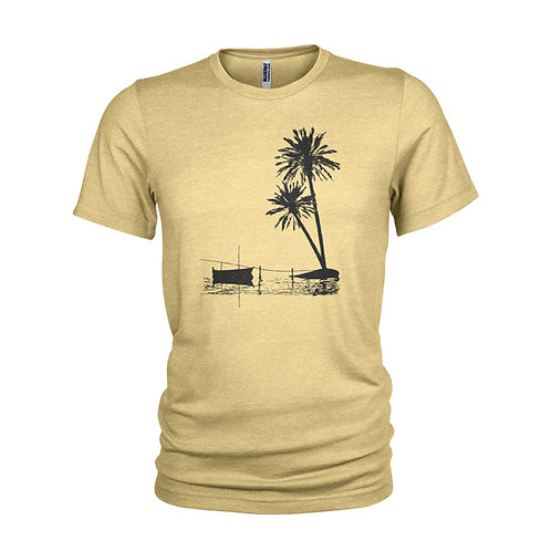MALDIVES -Tropical beach paradise - evening sunset screen printed T-shirt