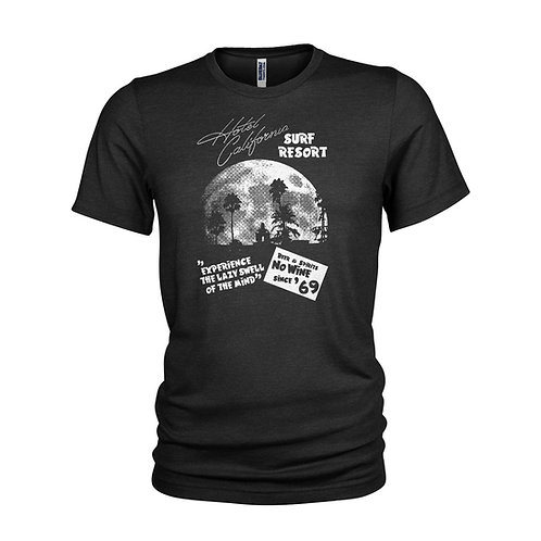 The Eagles Hotel California surf shack tribute T-shirt