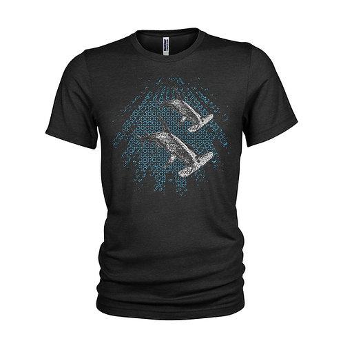 Hammerhead Sharks in the shadows stunning Scuba diving T-shirt
