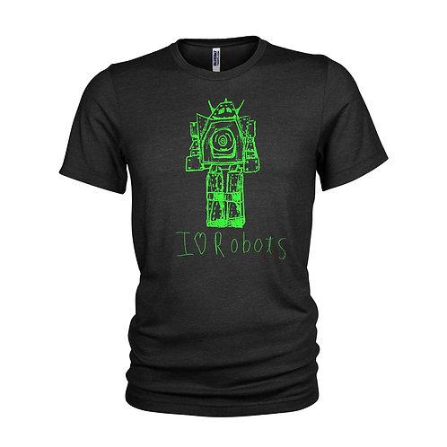 Robot Fluro retro green I love Robots transformers T-shirt