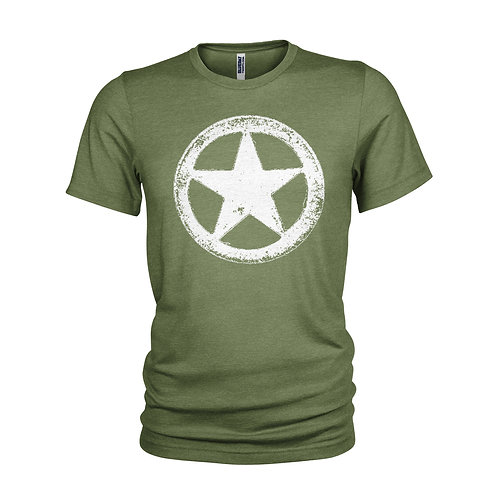 US Army WWII Military White Star Retro M*A*S*H  vintage T-shirt