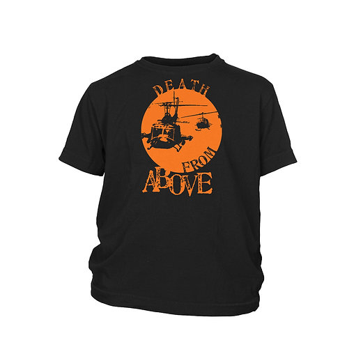 KIDS - Apocalypse Now Death from Above Huey Helicopter cult war film T-shirt