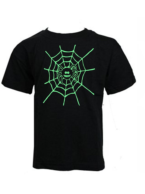 "KIDS - HALLOWEEN - Limited Edition ""GLOW in the DARK"" Spider web T-shirt"