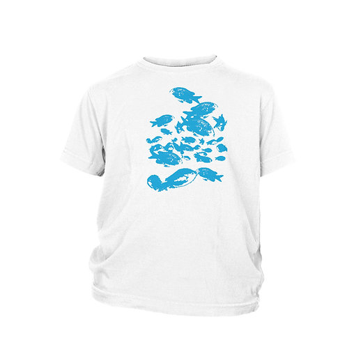 KIDS - Green Chromis fish shoal scuba T-shirt