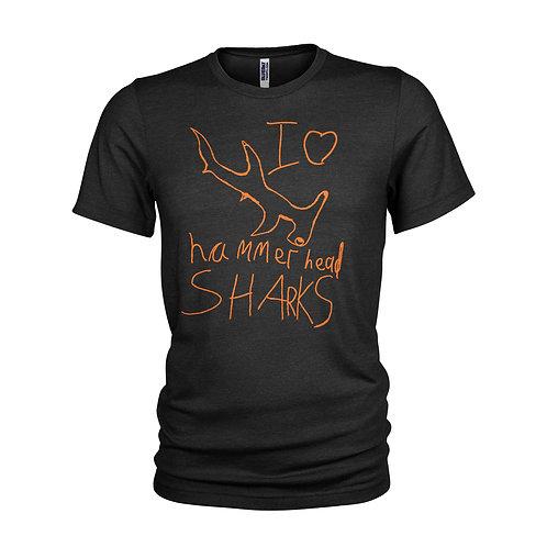 Hammerhead sharks kids style drawing Scuba dive T-shirt
