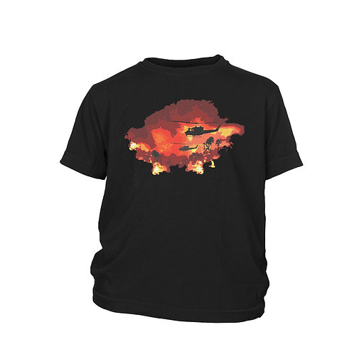 KIDS - Apocalypse Now Redux Huey helicopter Martin Sheen Vietnam film T-shirt