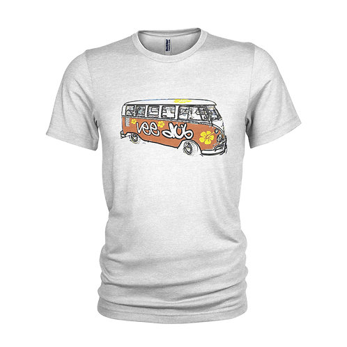 VW Campervan 1970's Retro Veedub Iconic vintage look beach and surfer T-shirt -