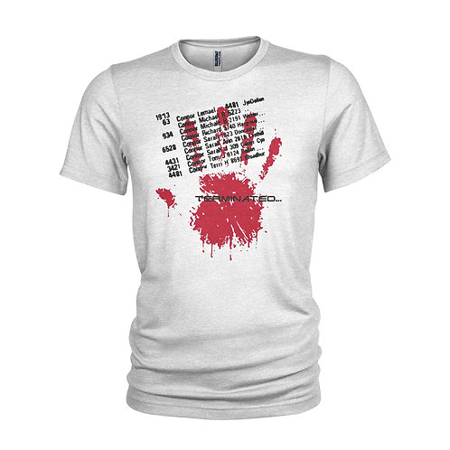 The Terminator 'Sarah Connor phone book entry' film T-shirt