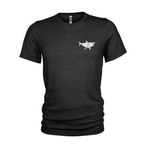 Chrome style MAKO Shark logo - Scuba diving & Shark design T-Shirt