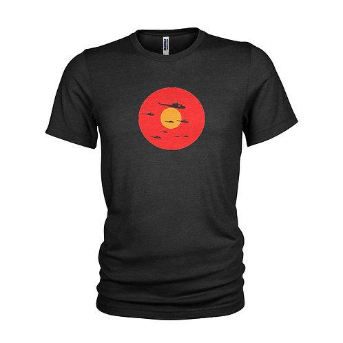 Hamburger Hill Classic Vietnam war film Huey Helicopter sunset T-shirt