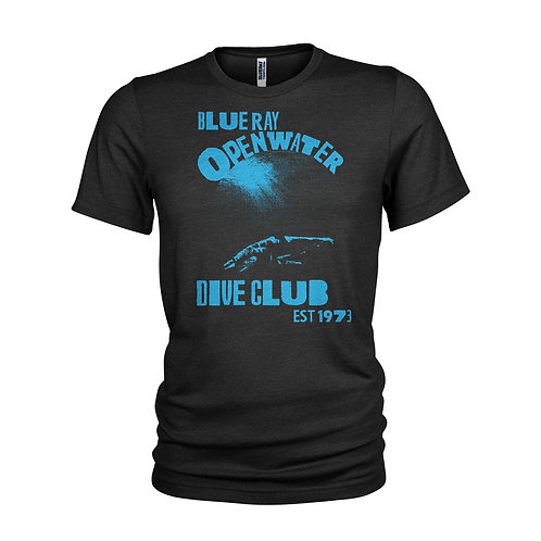Blue Ray Open Water Scuba Dive Club Mako Shark T-shirt