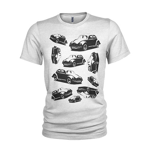 VW BEETLES inspired collection of classic cars - Cool retro VW T-shirt
