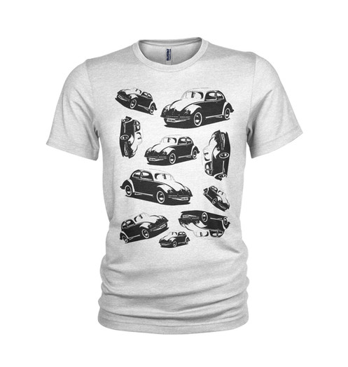 c6870f1a5 VW BEETLES inspired collection of classic cars - Cool retro VW T-shirt