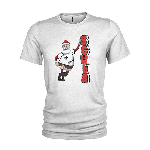 Festive funny Scuba Diving Santa/ Father Christmas gift T-shirt