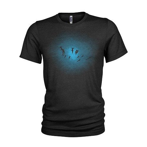Great Hammerhead Shark shoal, deep ocean scuba diving T-shirt