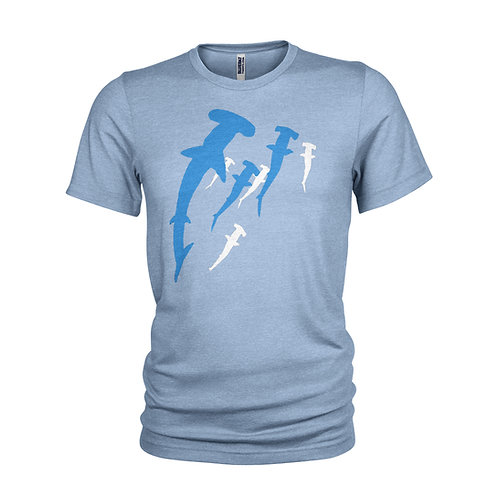 Hammerhead 6 shoal multicolour screen printed Hammerhead shark T-shirt