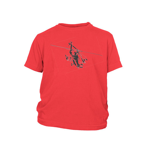 KIDS - Apache helicopter - helicopter gunship T-shirt
