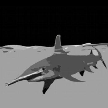 Hammerhead Shark Acrylic pop art style painting