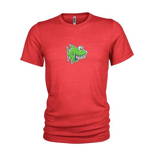 Toy JAWS - Green cartoon SHARK Unique & cool Scuba diving T-shirt