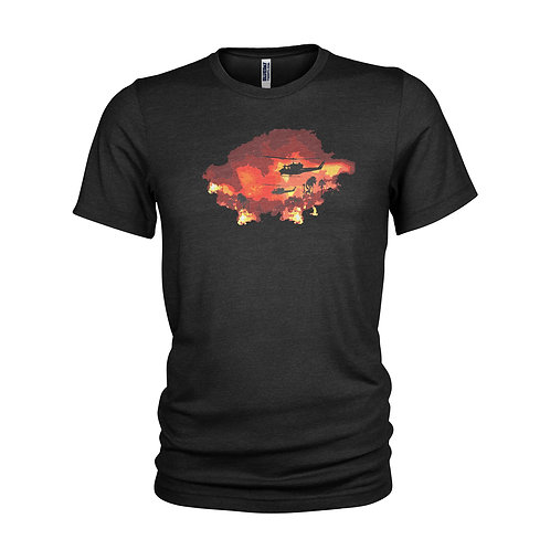 Apocalypse Now Redux Huey helicopter Martin Sheen Vietnam film T-shirt