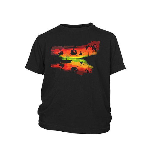 KIDS - Apocalypse Now - Ride of the Valkyries Huey helicopter charge T-shirt