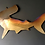 Thumbnail: Large 4' long hand crafted brushed stainless steel Hammerhead Shark
