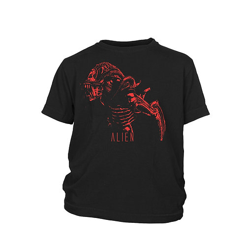 KIDS - Orange Alien film & Movie icon 100% cotton SCREEN PRINTED T-shirt