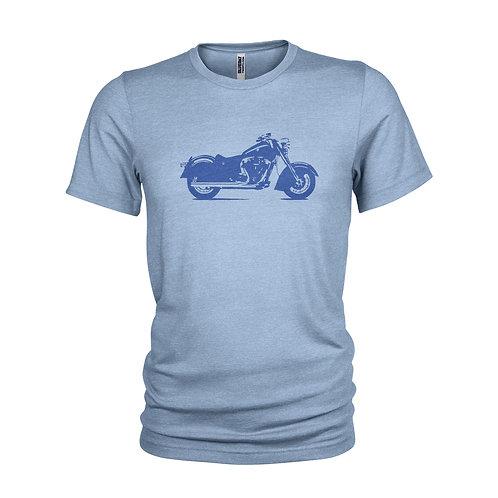 Steve McQueen Indian Motorbike Classic Road legend biker T-shirt