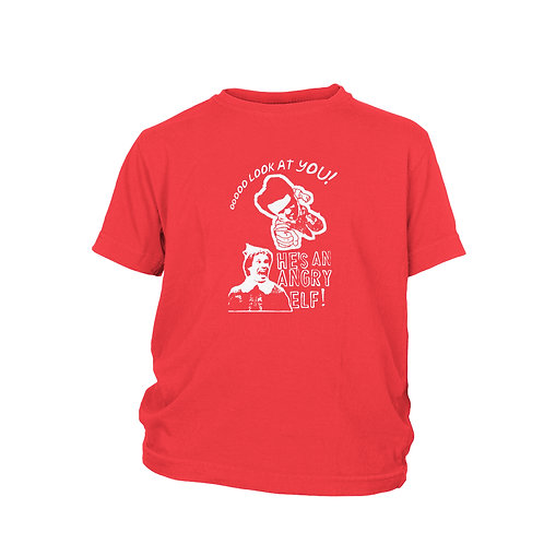 KIDS - Elf - Classic Will Ferrell Christmas Film. Angry Miles Finch T-shirt