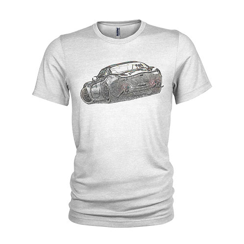TVR Tuscan - Sketch style Supercar T-shirt