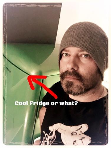 Mad owner & a cool fridge