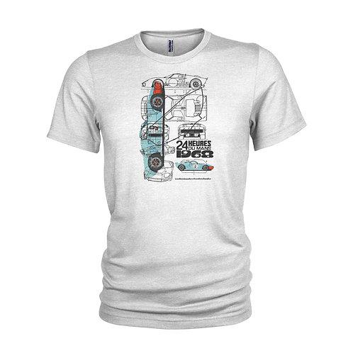 Ford GT40 Le Mans winner cult race car T-shirt