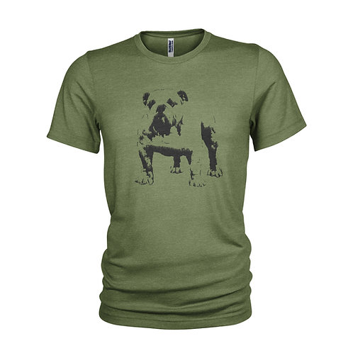 British Bulldog Churchill - iconic dog & pet T-shirt