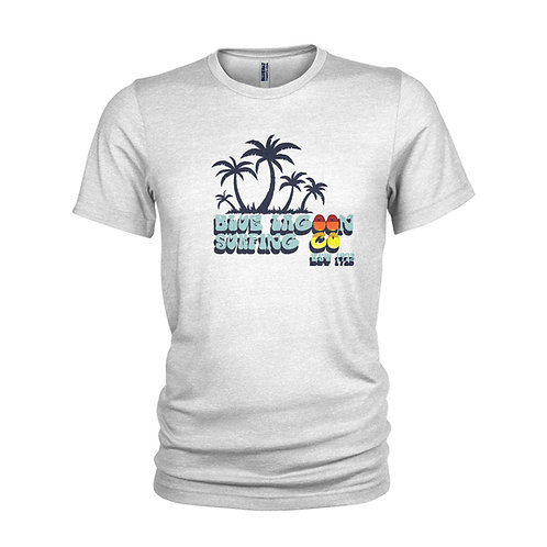 RETRO - Blue Lagoon Vintage surf club 1973 classic beach T-shirt
