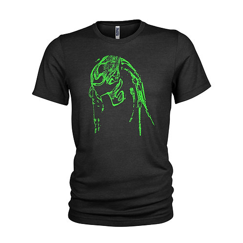 Predator fluro green Predator head 'Welcome to the Jungle' movie film T-shirt