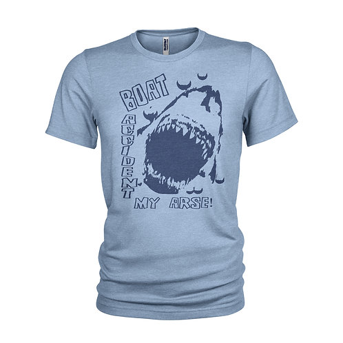 Jaws film classic 1975 movie funny Boat Accident my arse T-shirt